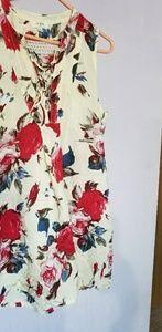Umgee Floral Print Tunic Dress
